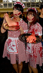 Zombie Japanese Waitresses in Tokyo
