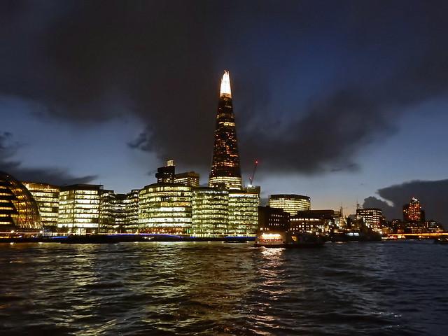 The Shard at night, Nikon COOLPIX S9900