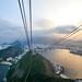 8. Teleférico del Pan de Azúcar en Rio de Janeiro al atardecer