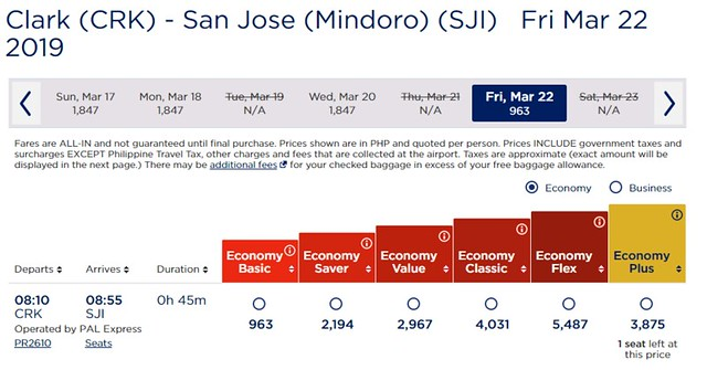 PAL Winning Deals Clark to Mindoro San Jose