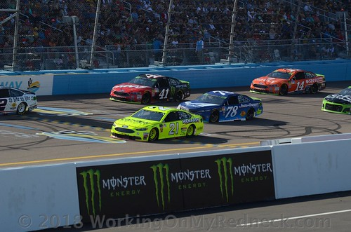 Paul Menard, Martin Truex, Jr, Kurt Busch & Clint Bowyer