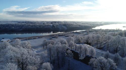 Viljandi drone view