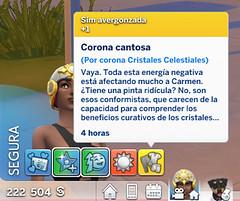 Corona Cristales Celestiales en Los Sims 4 - Efectos