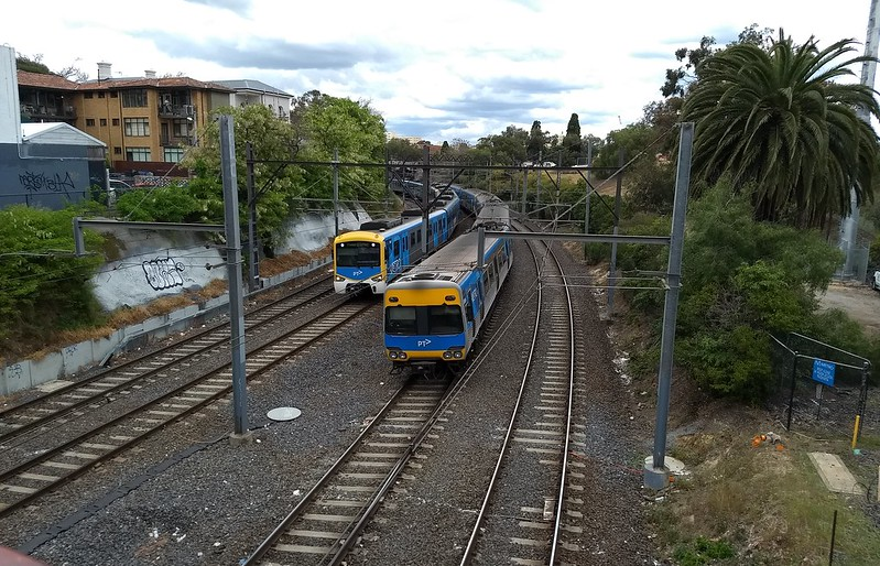 South Yarra - Metro tunnel works January 2019, looking SE