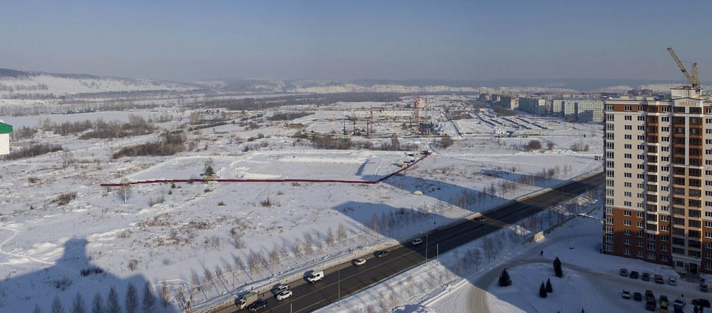 Панорама строительства.