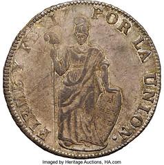 1839 South Peru 8 Reales obverse