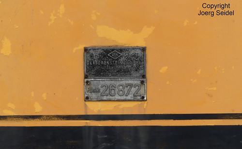 BE-9200 Baasrode Stoomtrein Dendermonde-Puurs Degussa Antwerpen N.V. (O&K 26872/1977 Typ MB200N) im August 2018