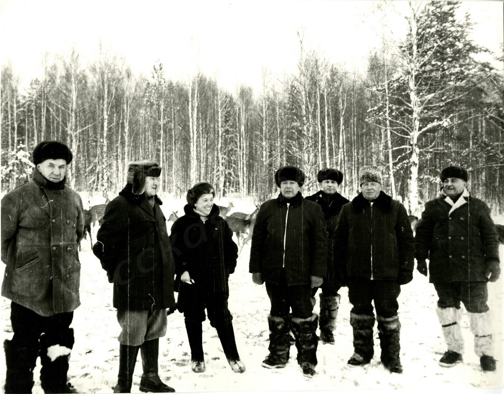 1970-е. Л.И.Брежнев на охоте