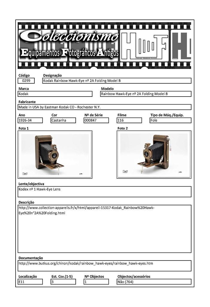 Inventariação da colecção_0299 Kodak Rainbow Hawk-Eye nº 2A Folding Model B