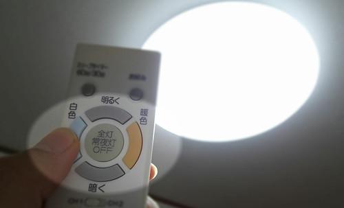 LED照明で明るさを変えられるもの