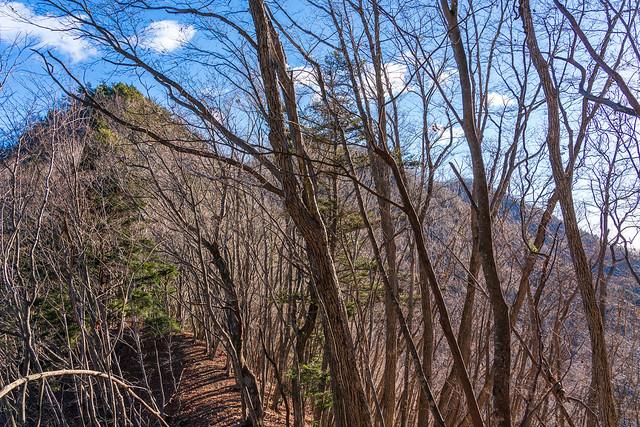 三ツ森北峰手前の小ピークへ・・・この先ルートは険しくなる