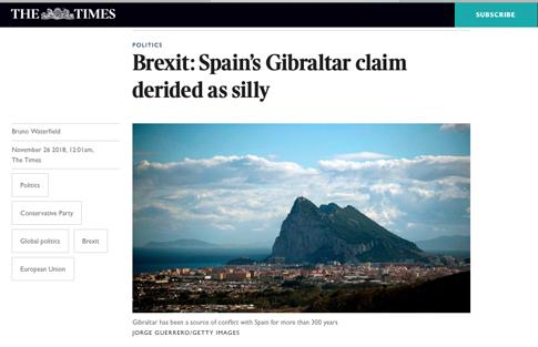 18k26 Times Las pretensiones españolas sobre Gibraltar una locura Uti 485
