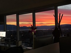 Epic sunset from the Office