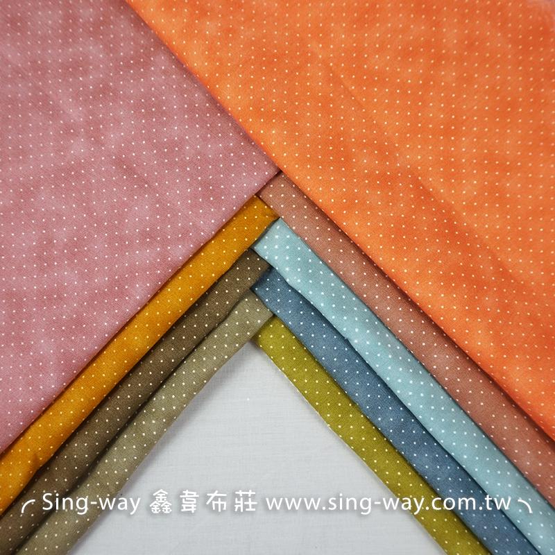 小點點(大特價) 馬卡龍暈染 水玉圓點 滾邊配布 手工藝DIy拼布布料 CA450723