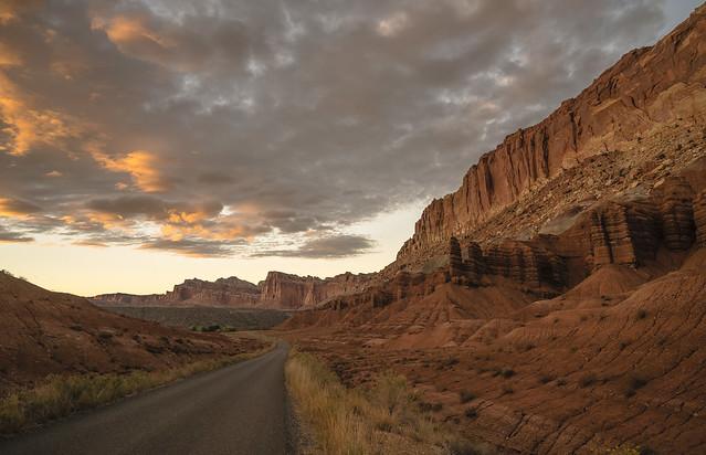 Back Road at Sunset, Capital Reef, Utah-041