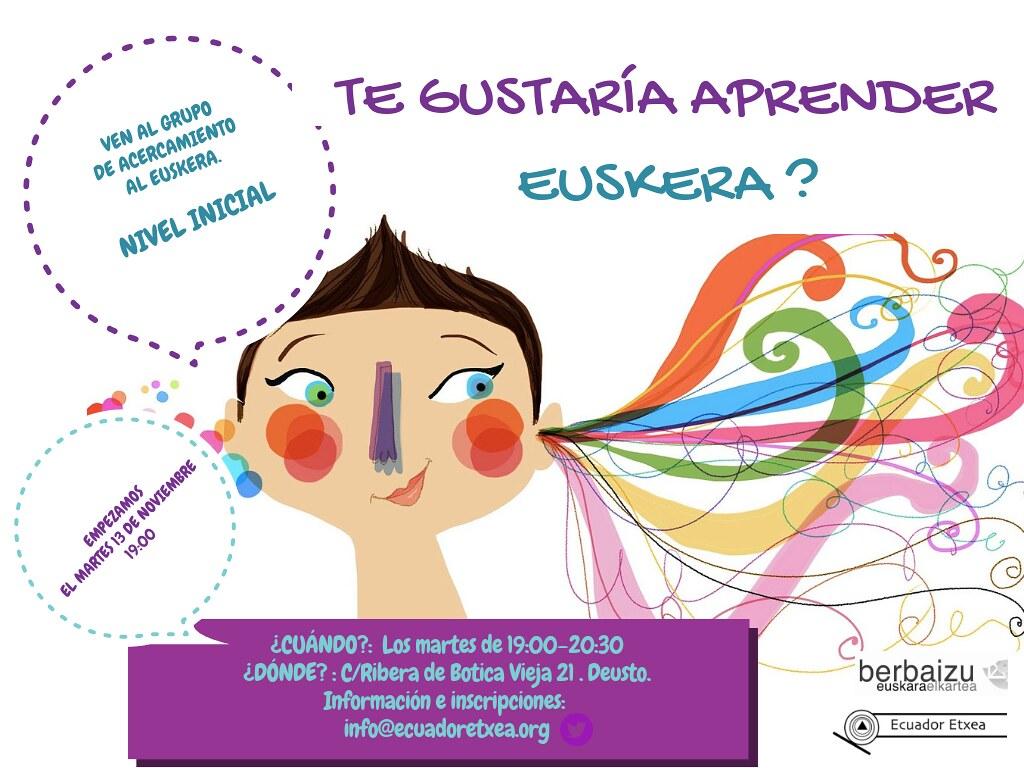 CLASES GRATUITASEUSKERA- Ekuador Etxea