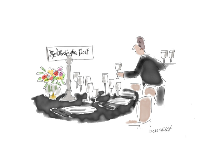 ICFJ 2018 Awards Dinner, Cartoons by Liza Donnelly
