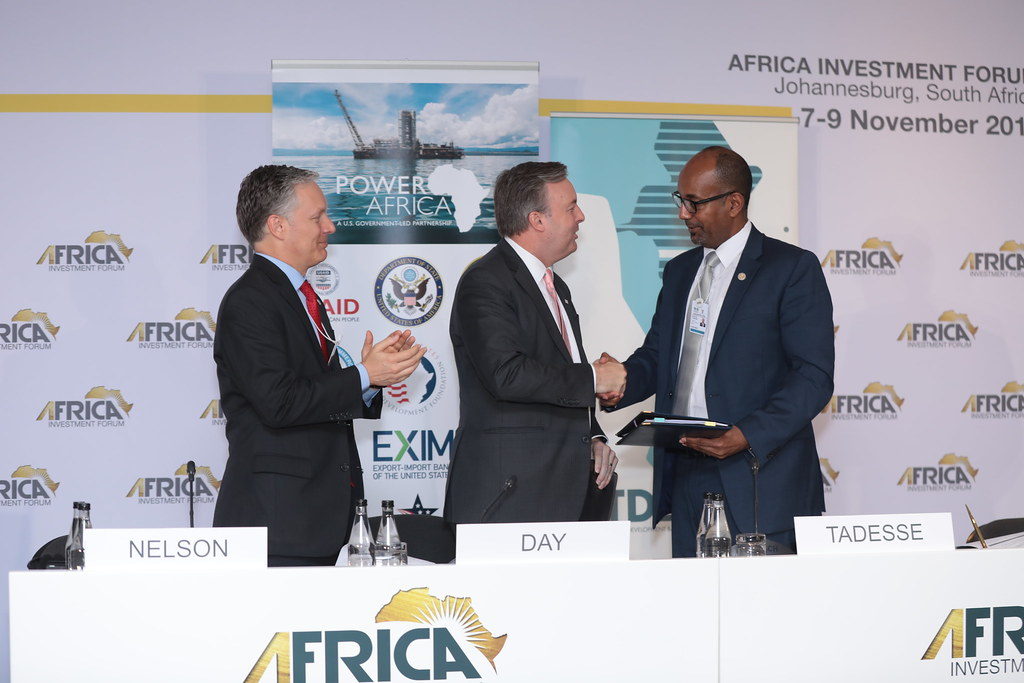 Africa Investment Forum - Press Confrence : Trade and Development Bank and USAID's Power