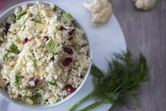 Cauliflower Rice with Cramberries and fresh herb top View