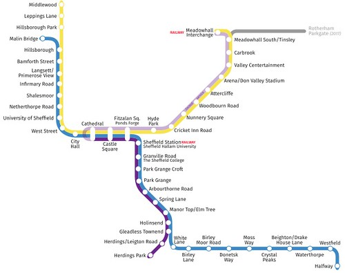 'Stagecoach SUPERTRAM' Network Map at November 1st. 2018 on Dennis Basford's railsroadsrunways.blogspot.co.uk'