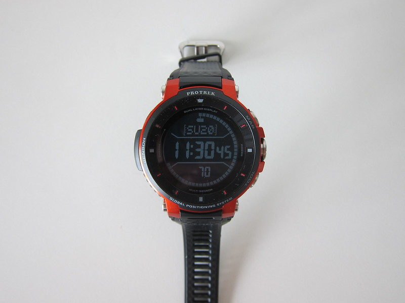 Casio WSD-F30 - Monochrome Display