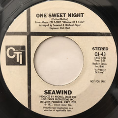 SEAWIND:ONE SWEET NIGHT(LABEL SIDE-A)