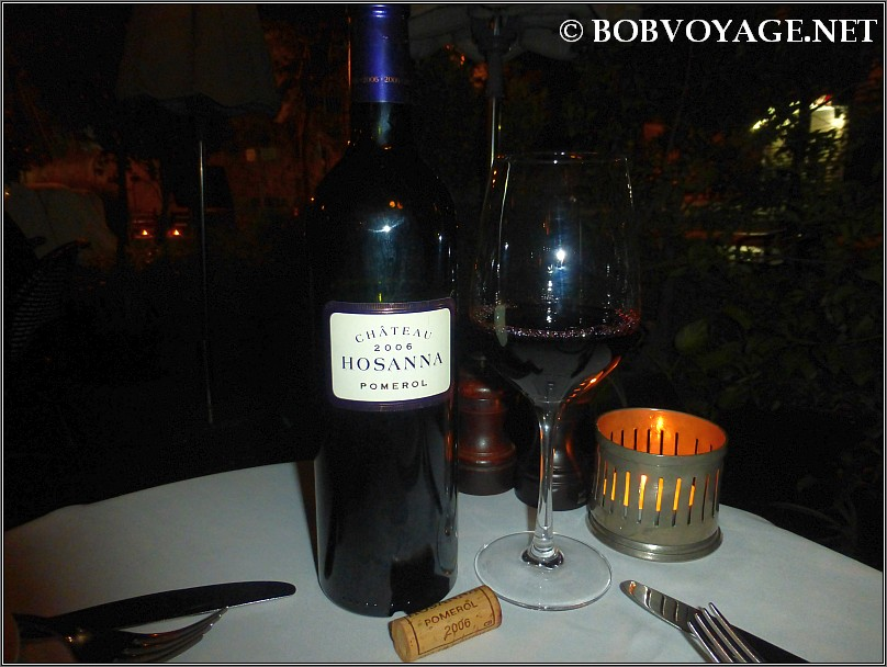 Chateau Hosanna Pomerol 2006 ב- קופי בר (coffee bar)