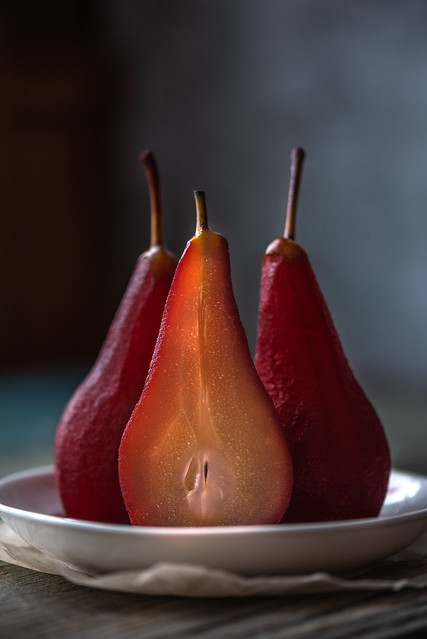 Stewed in wine pears, Nikon D750, AF-S VR Micro-Nikkor 105mm f/2.8G IF-ED