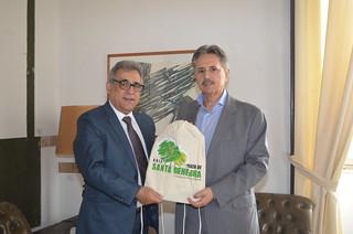 Secretaria recebe presidente da Fundação José Pedro de Oliveira