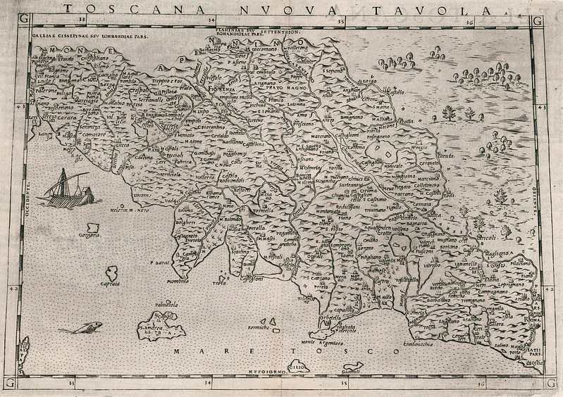 Claudius Ptolemy - Toscana Nuova Tavola (1599)
