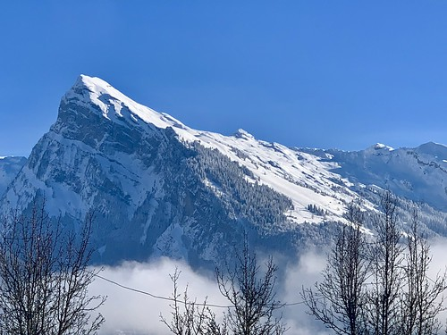 Skiing in January in Grand Massif, France.