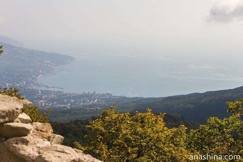 Вид с Ай-Петри на Большую Ялту, Крым