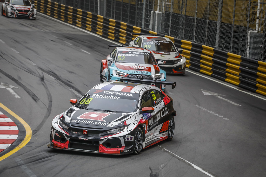 68 EHRLACHER Yann, (fra), Honda Civic TCR team ALL-INKL.COM Munnich Motorsport, action during the 2018 FIA WTCR World Touring Car cup of Macau, Circuito da Guia, from november  15 to 18 - Photo Francois Flamand / DPPI