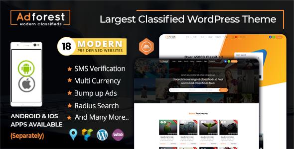 AdForest v3.5.0 - Classified Ads WordPress Theme