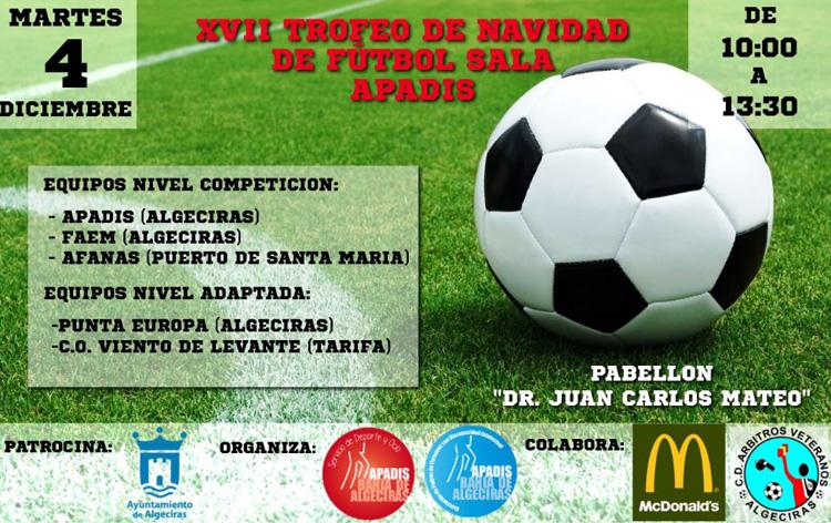 Mañana se celebra el XVII Trofeo de Navidad de Fútbol Sala Apadis