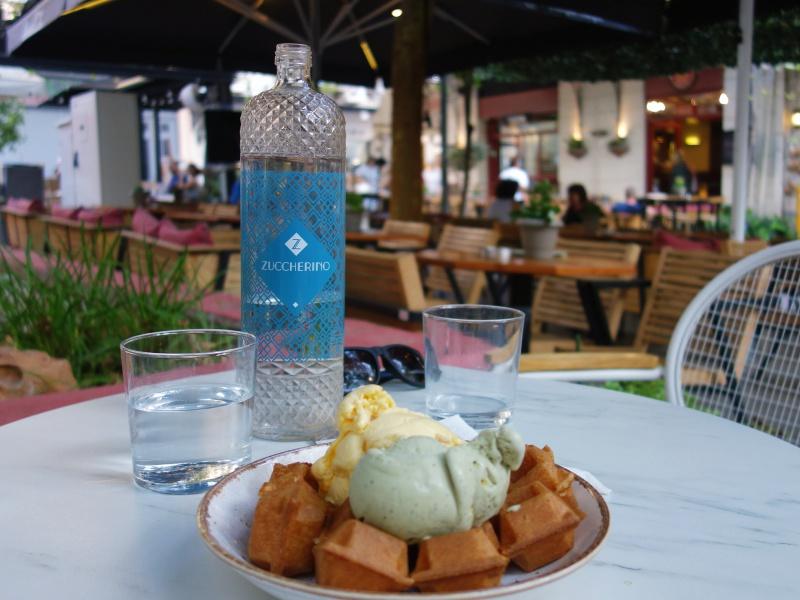 Athens ice cream waffle