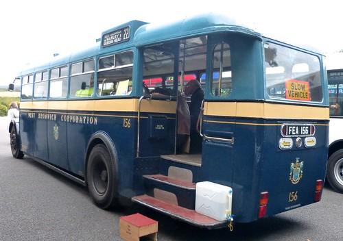 FEA 156 'West Bromwich Corporation' No. 156. Daimler CVG5 /  Metropolitan Cammell Carriage & Wagon Co. /2 on Dennis Basford 'railsroadsrunways.blogspot.co.uk'