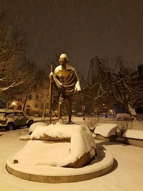 Gandhi, 6 a.m.