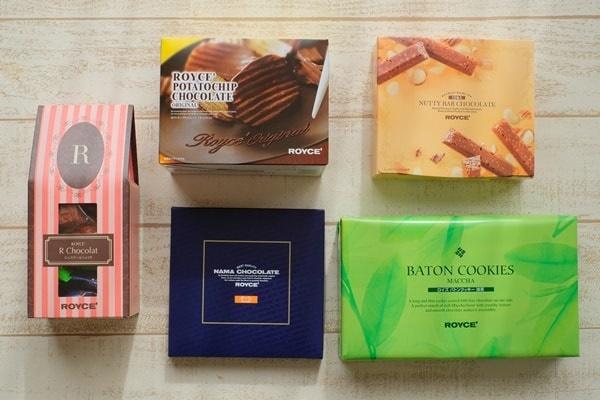 返礼品ロイズのお菓子セットの内容