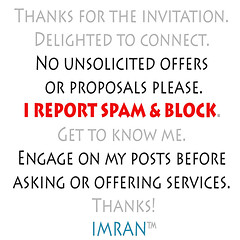 Stop Spammy Solicitations From New Connections - IMRAN™