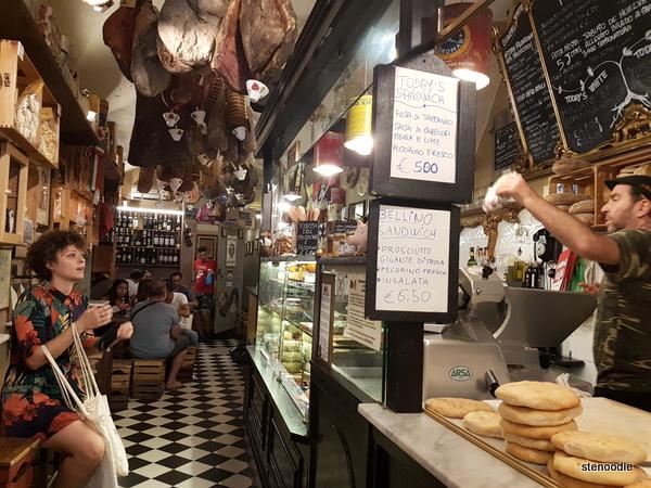 La Prosciutteria Firenze interior