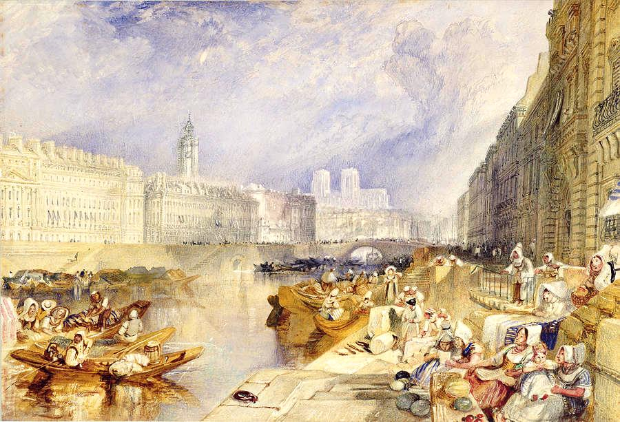 Nantes from the Ile Feydea, watercolor painting by J.M.W. Turner, 1829-1830.