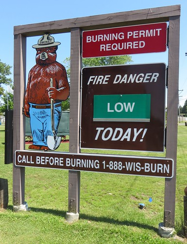 Smokey the Bear Sign (Port Wing, Wisconsin)