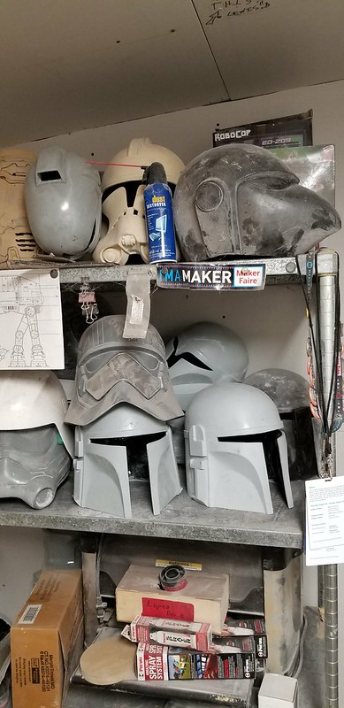Helmet Stack in Progress