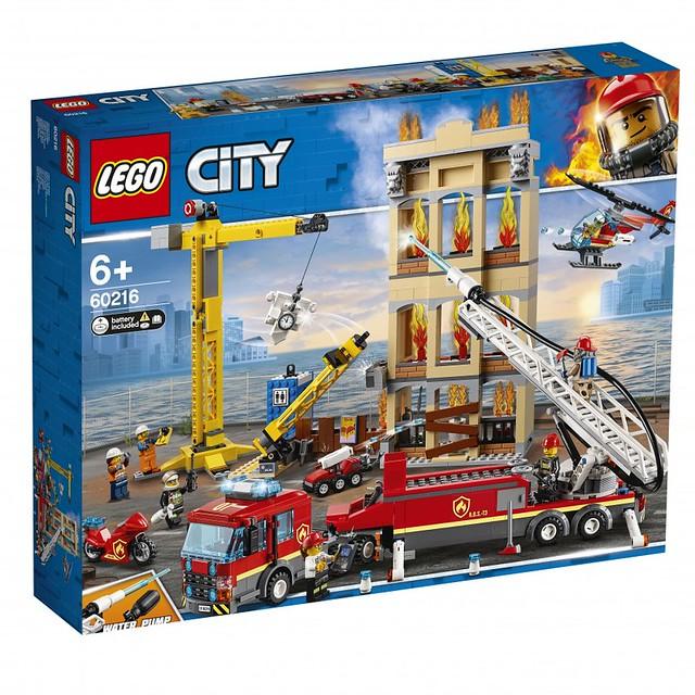 可靠的打火英雄,消防救難隊登場! LEGO 60213~60217 城市系列 火災救難主題 2019上半年部分盒組公開 Part 2!!