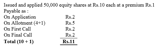 TS Grewal Accountancy Class 12 Solutions Chapter 8 Accounting for Share Capital Q66