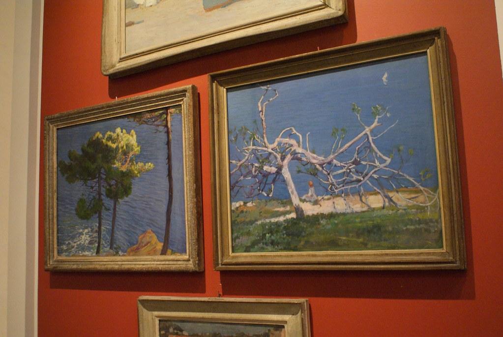 """Tableau d'Antonio Discovolo """"Il fico"""" au musée des Beaux Arts de Gènes."""