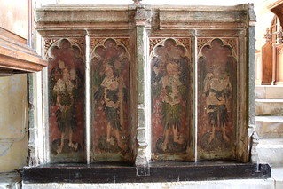 rood screen (north): angels holding instruments of the passion (15th Century)