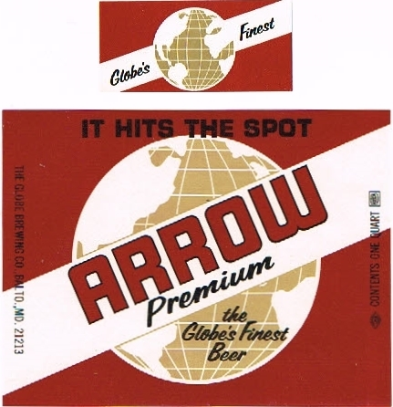 Arrow-Premium-Beer--Labels-Globe-Brewing-Company