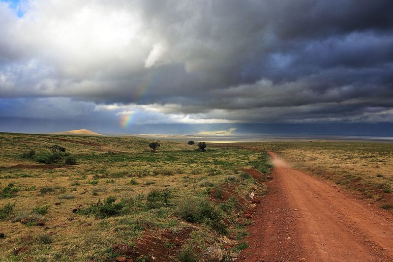 Rainbow in Ngorongoro